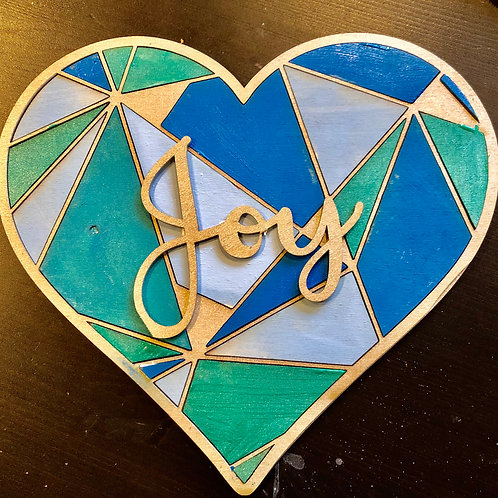 Geometric Heart Sign 10x10 to paint/stain