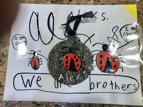 Kid's Drawing Image Ornament