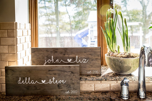 Personalized Heart & Name Sign