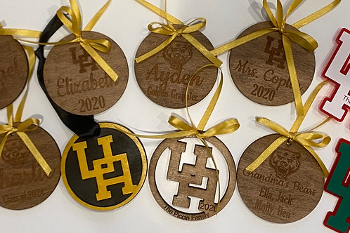 Upper Arlington Black & Gold Ornament