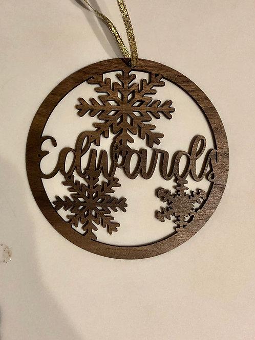Snowflake Name Ornament