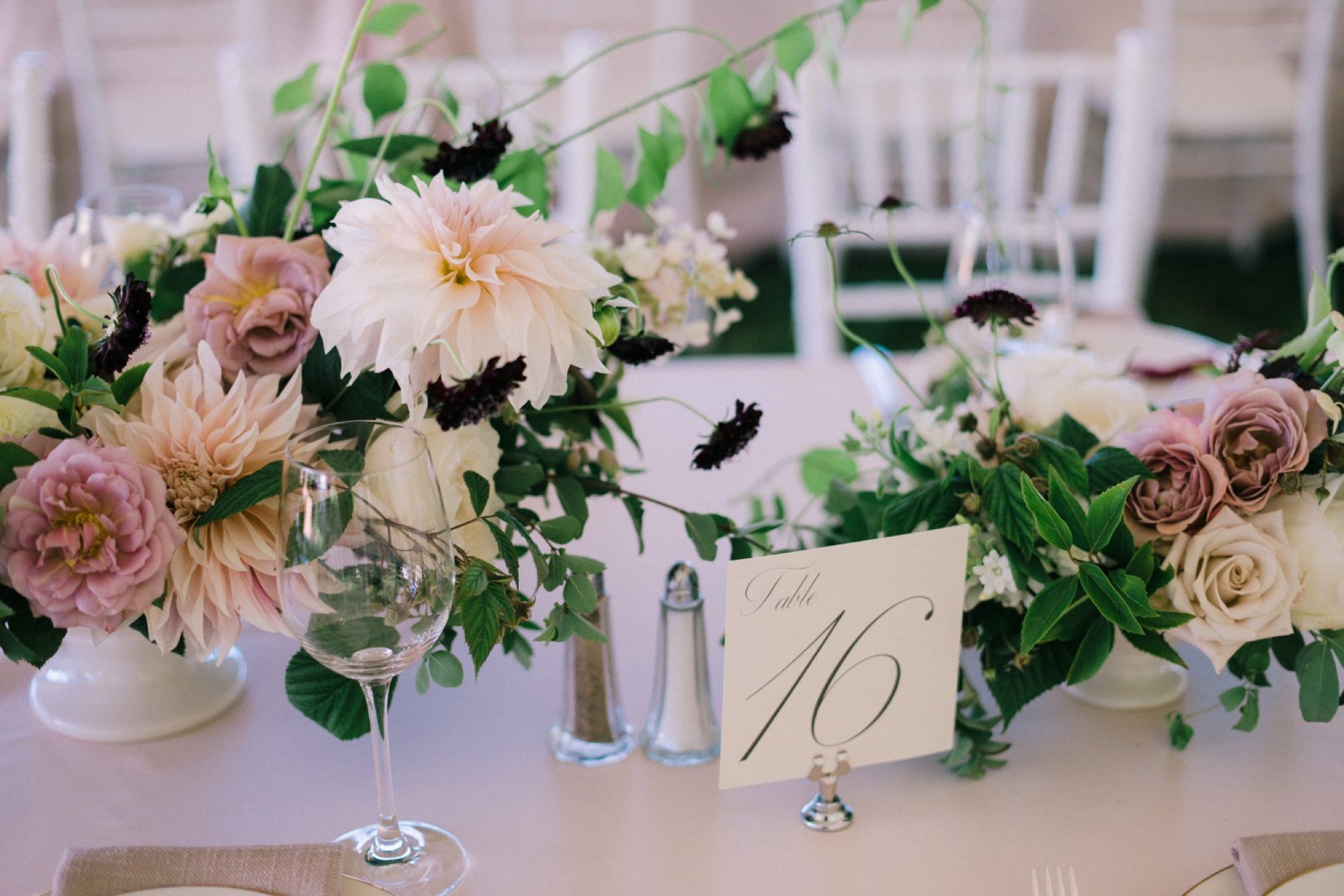A lush and romantic wedding reception from Seattle Florist Botanique