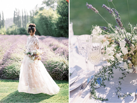 Provence Wedding Inspiration at Woodinville Lavender with Flowers from the Botanique Cutting Garden