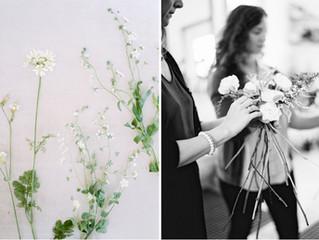 A Glimpse Into the Botanique Studio during a 1:1 Floral Design Lesson