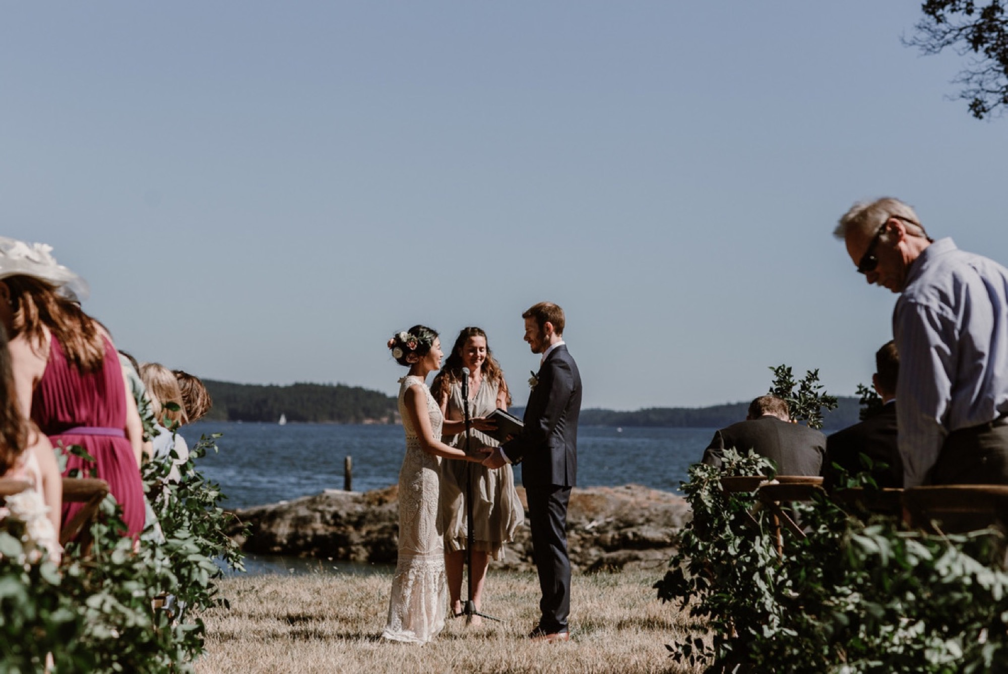Waterfront ceremony on Orcas Island