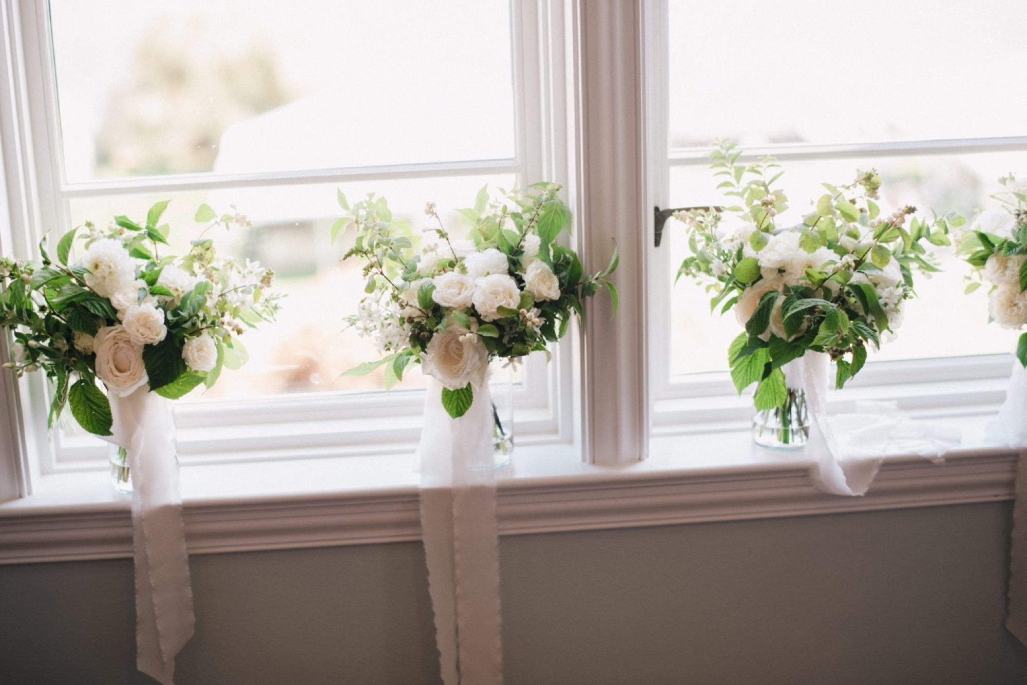 Elegant white and green florals from Seattle Wedding Florist Botanique