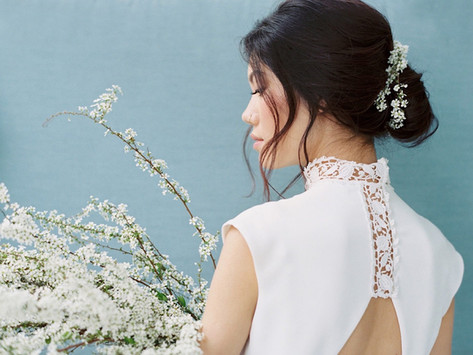 Delicate, Modern and Organic Spring Wedding Inspiration at Crate and Barrel