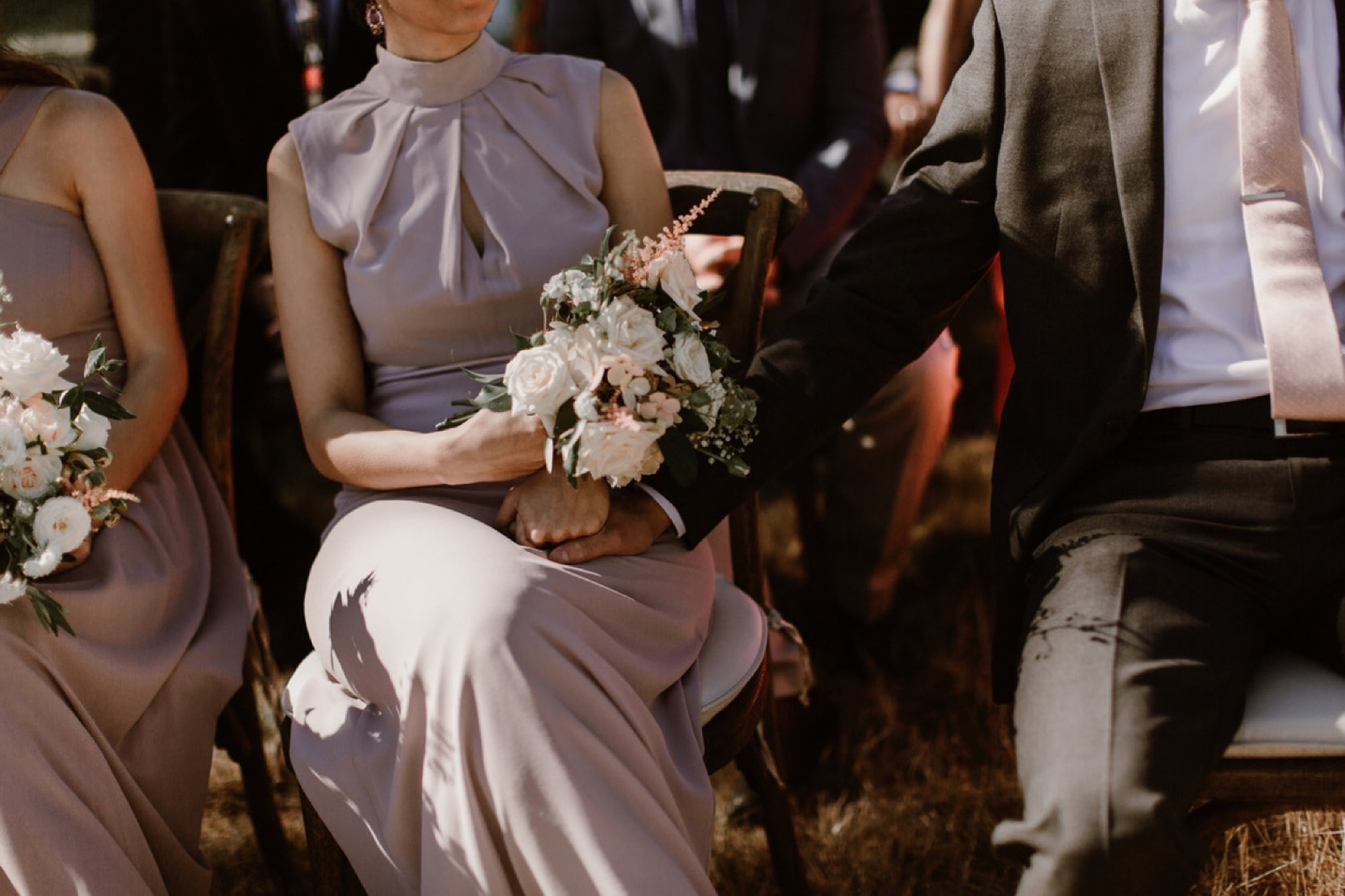 Candid moment at a Pebble Cove Farm Wedding with Seattle Wedding Florist Botanique