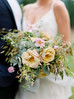 A Leavenworth, Wildflower Elopement, in a Gold, Sage, Honey and Blush Color Palette