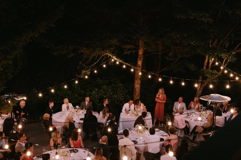 A modern wedding reception at JM Cellars with Botanique Floral