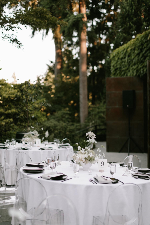 Chic and Minimal Wedding Reception from Seattle Wedding Florist Botanique