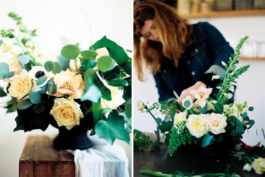 Winter Flowers Floral Design Workshop at Botanique in Seattle, WA