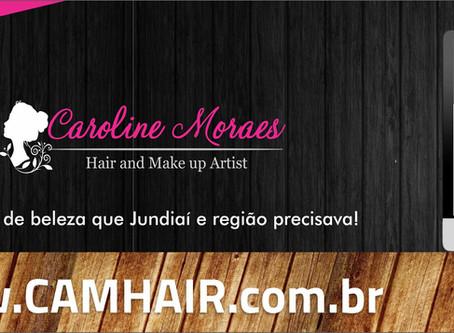 Caroline de Moraes lança site cam hair com Barcaro Publicidade