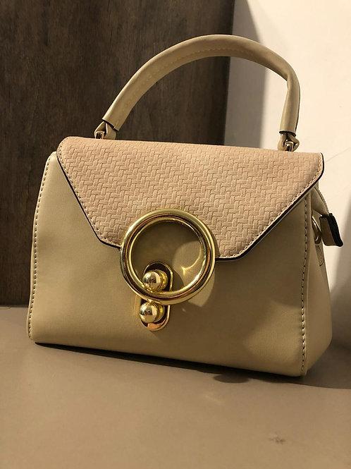 Bolsa de mão gold palha