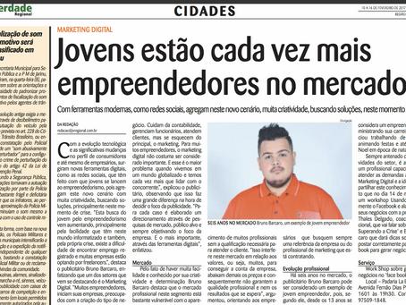 Bruno Barcaro é dastaque no Jornal A Verdade Regional