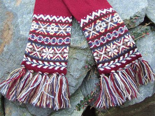 Fair Isle border scarf