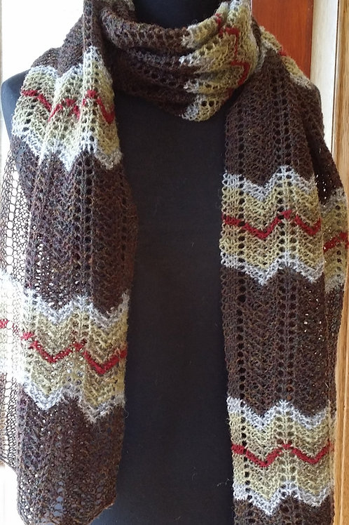 Hand knit Lace Scarf
