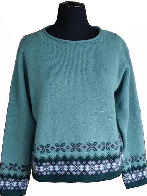 Fair Isle Border Sweater