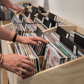 person browsing records