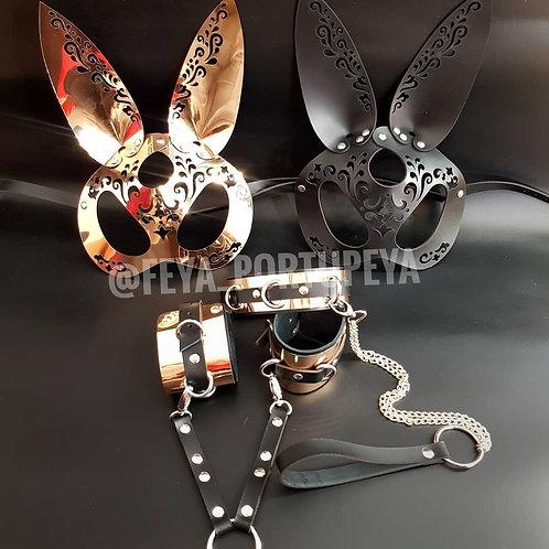 """Комплект """"Bunny Lux"""" Кожаный/Зеркальный"""