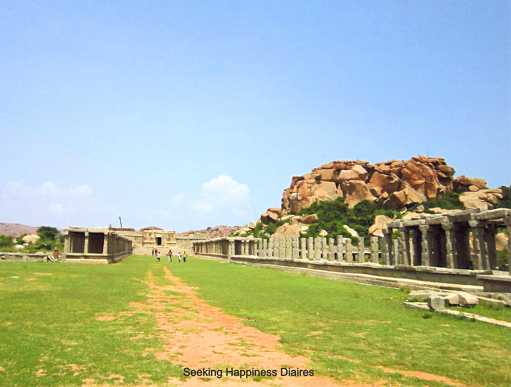 Krishna Bazaar where traders came in the 15th Century Hampi