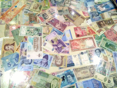 Currency display at a hotel