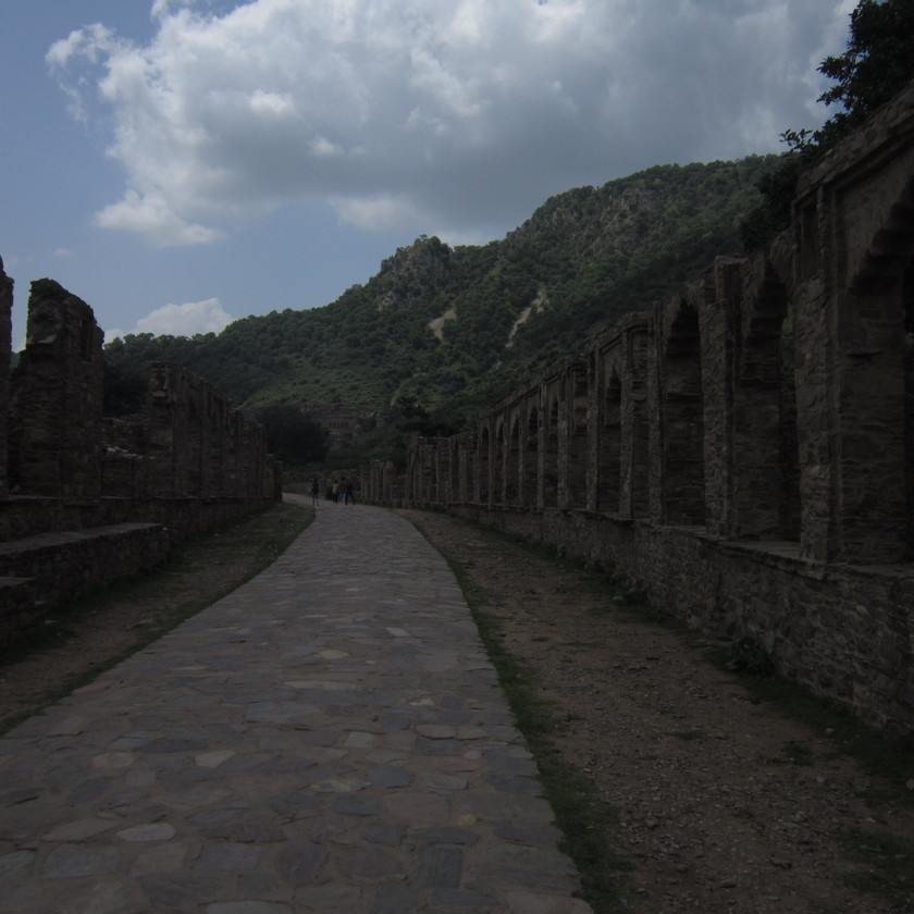 Entrance lanes to Bhangarh fort
