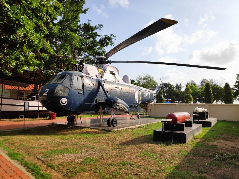 Seeking Helicopter in Indian Naval Maritime Museum
