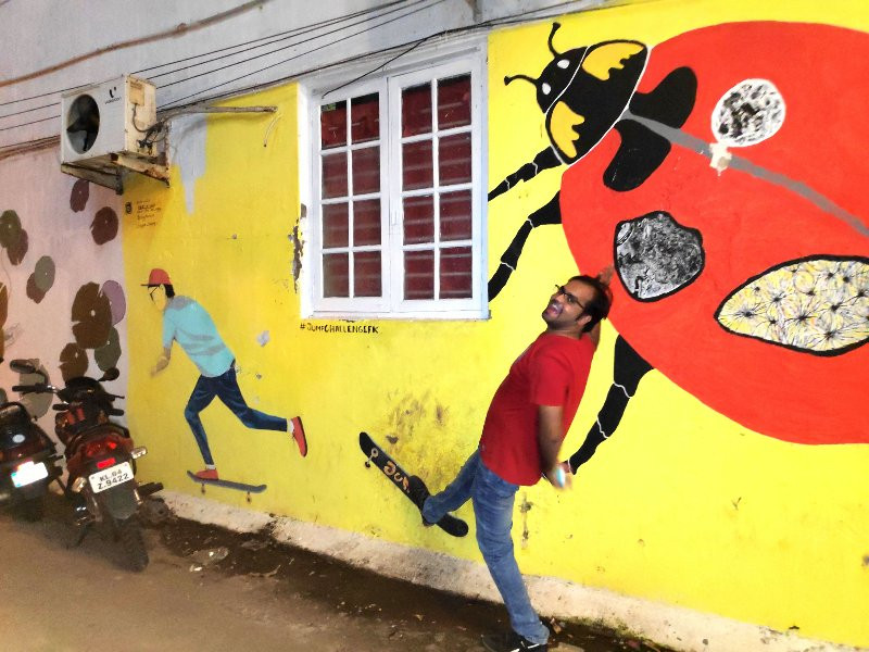 Street Art by local artists, Fort Kochi
