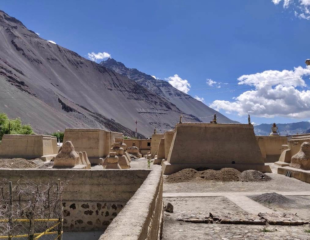 Mud buildings and Stupas of old Tabo Monastery constructed in 996AD