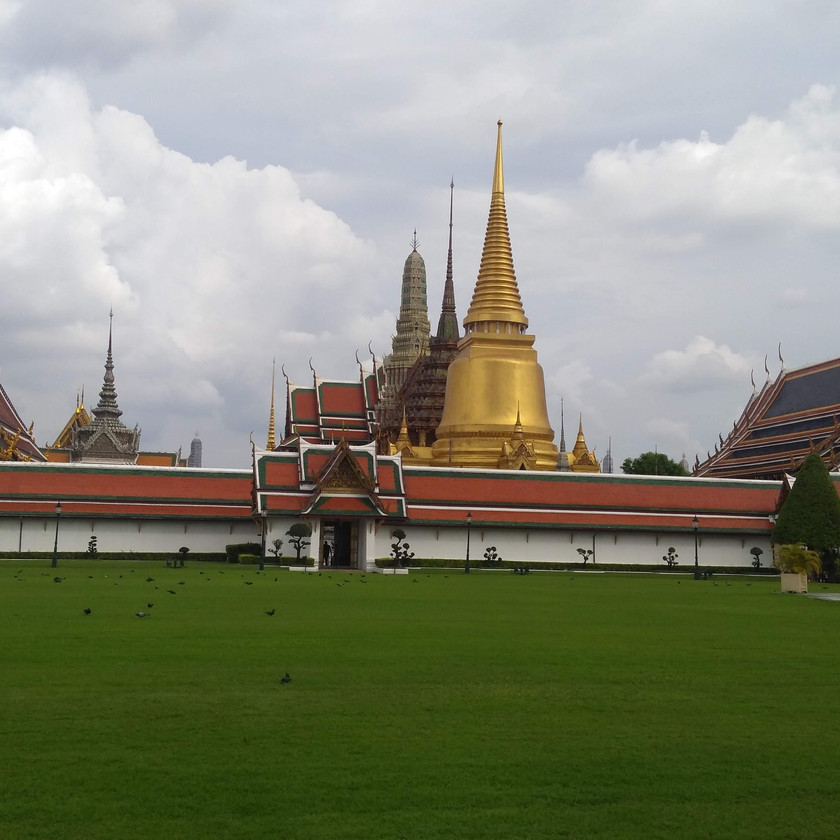 Outside the Grand Palace Premises