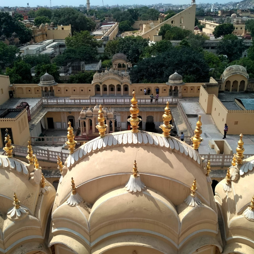 View from topmost floor of Hawa Mahal