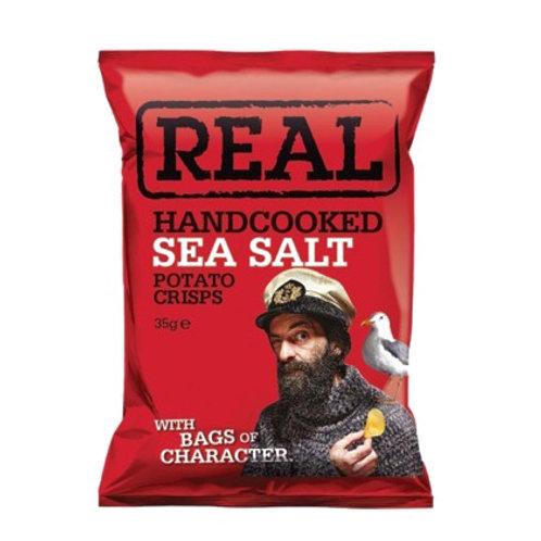 REAL HANDCOOKED SEA SALT CRISPS 35gr