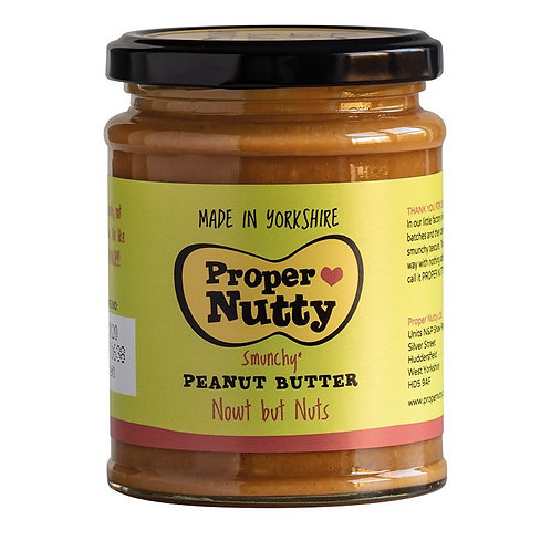 PROPER NUTTY VEGAN PEANUT BUTTER 280gr (PALM OIL FREE)