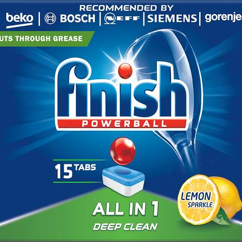 FINISH ALL IN 1 DISHWASHER TABLETS 15