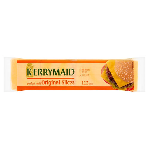 KERRYMAID BURGER CHEESE SLICES 112 PACK