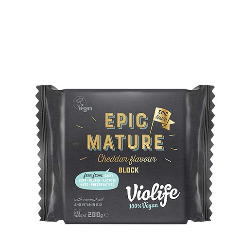 VIOLIFE VEGAN MATURE CHEDDAR BLOCK 200gr