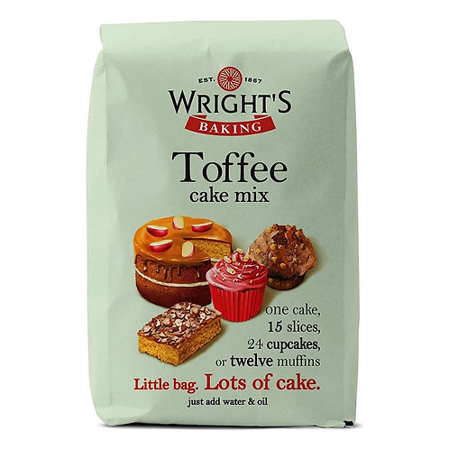 WRIGHTS TOFFEE CAKE MIX 500gr