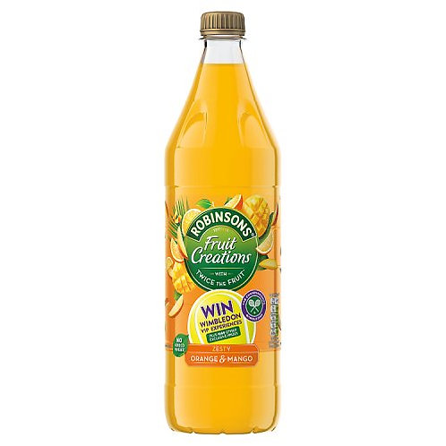 ROBINSONS CREATIONS ORANGE & MANGO CORDIAL 1 LITRE
