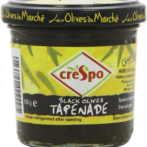 Crespo Black Olive Tapenade 100gr Pot