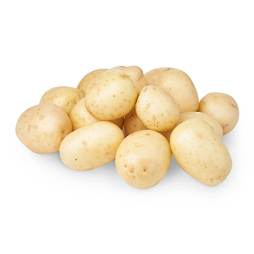 WASHED WHITE POTATOES 25KG SACKS