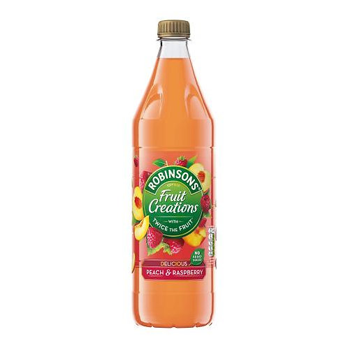 Robinsons Fruit Creations Peach & Raspberry Squash 1L