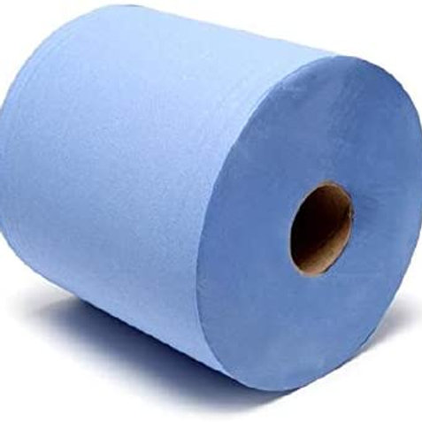 BLUE CENTER FEED ROLL 2 PLY EACH