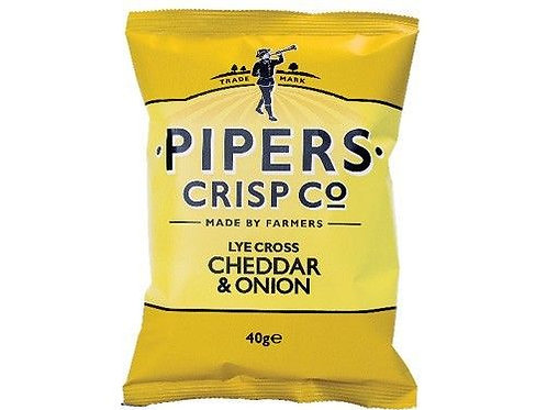 PIPERS LYLE CROSS CHEDDAR & ONION 40GR CRISPS