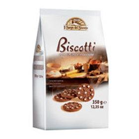 IL BORGO CHOCOLATE & HAZLENUTS BISCUITS 350GR