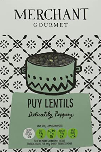 GREEN COOKED PUY LENTILS 500gr