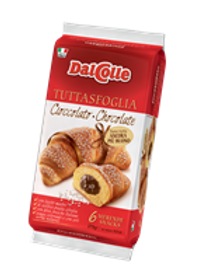 DAL COLLE CHOCOLATE FILLED CROISSANTS 6 PACK