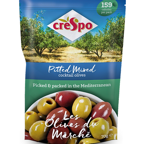Crespo Olives Du Marché Pitted Mixed Cocktail Olives 70gr