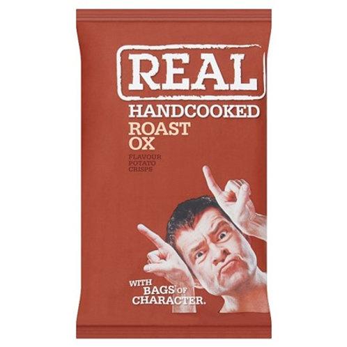 Real Roast Ox Handcooked Potato Crisps 50gr