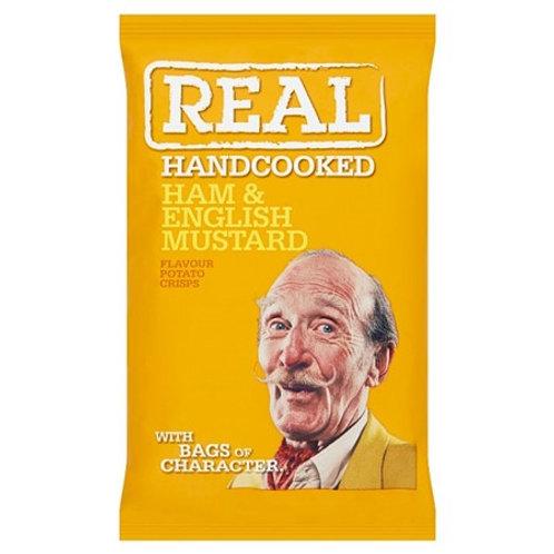 Real Ham & English Mustard Handcooked Potato Crisps 50gr
